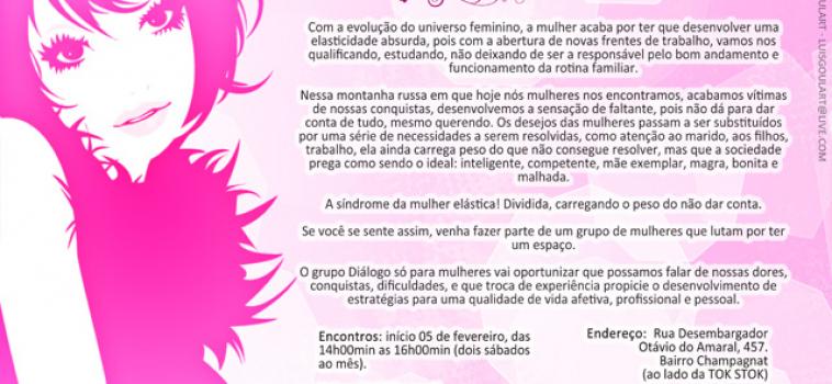 Grupo Diálogo só para mulheres