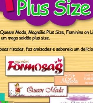 Mega saldão Plus Size